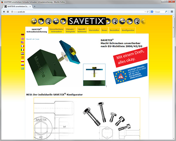Screw fasteners SAVETIX®