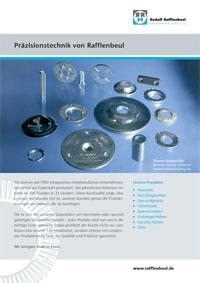 Produktblatt Präzisionstechnik von Rafflenbeul & Individuelle Stanz- und Umformteile von Rafflenbeul